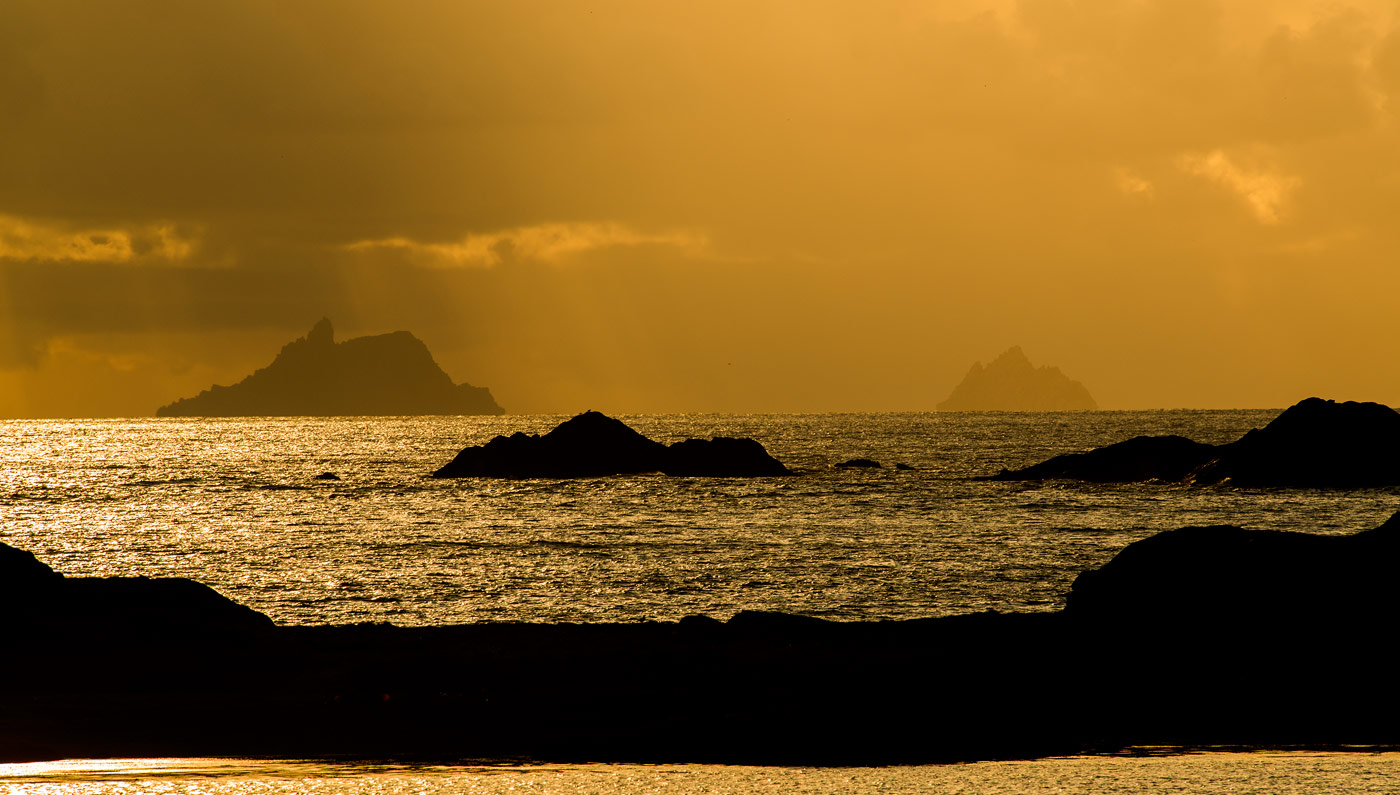 Skelligs at sunset